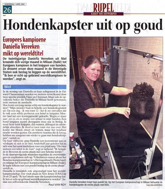 Gazet Van Antwerpen - 1 April 2004